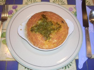 Charleston Cheese Pudding: a Cheddar Cheese soufflé
