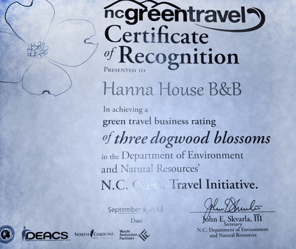 Green Travel Certificate